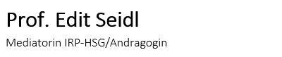 Prof. Edit Seidl Logo